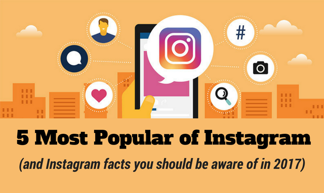 Instagram's 5 Most Popular (and Instagram facts to survive in 2017)