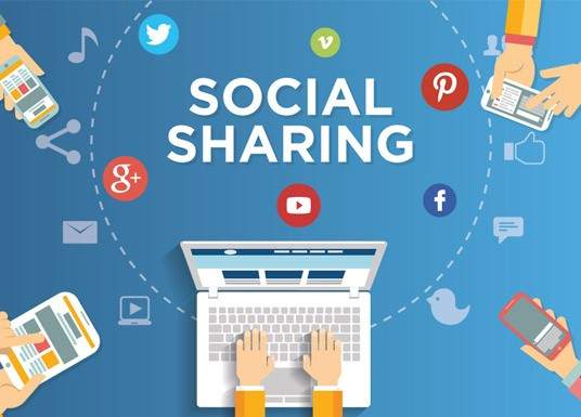 Social sharing with a single tap