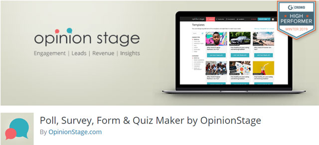 Poll, Survey, Form & Quiz Maker by Opinion Stage