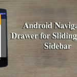 Android Navigation Drawer Tutorial