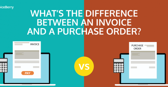 The difference between a purchase order and an invoice is explained