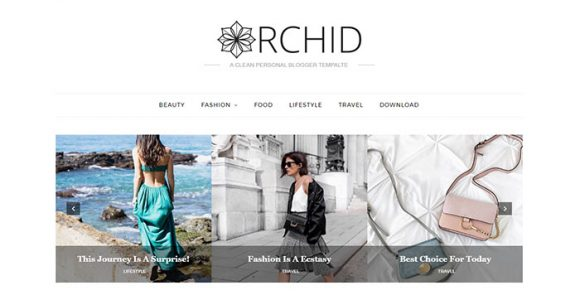 Orchid Blogger Template for Fashion Blogs.
