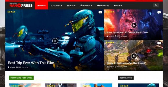 60 Best Responsive Gaming WordPress Themes 2017