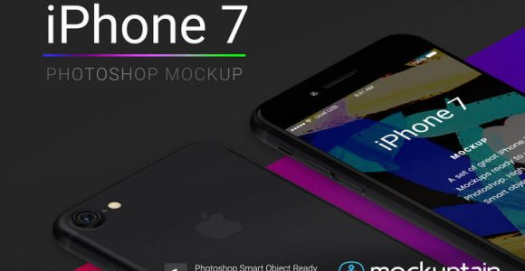 120+ iPhone 7, Jet Black & 7 Plus PSD Mockup Templates