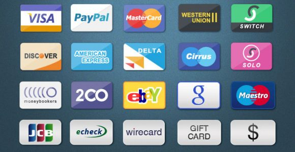 80 Free Credit Card, Debit Card and Payment Methods Icon Sets