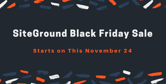 SiteGround Black Friday Sale 2017 – 70% OFF + Free Domain