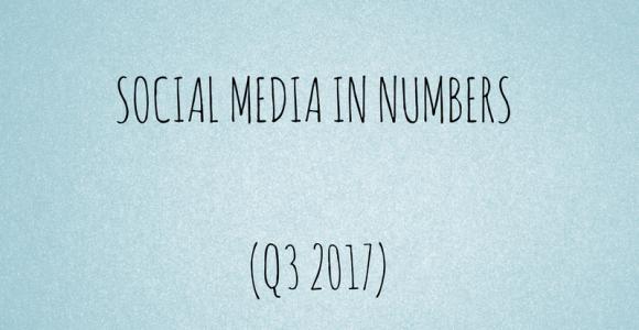 Social media in numbers (Q3 2017)