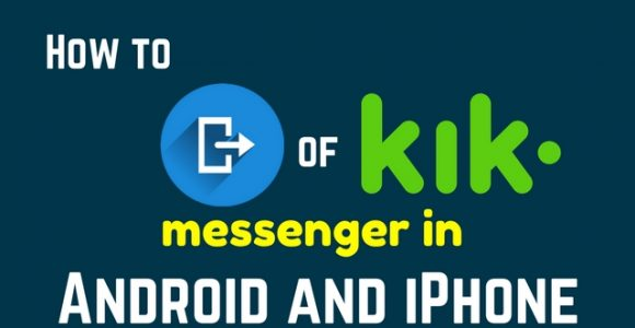 Tutorial to logout of Kik messenger in Android and iPhone