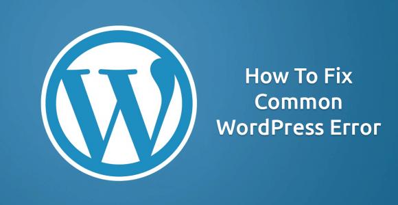Fix WordPress Errors