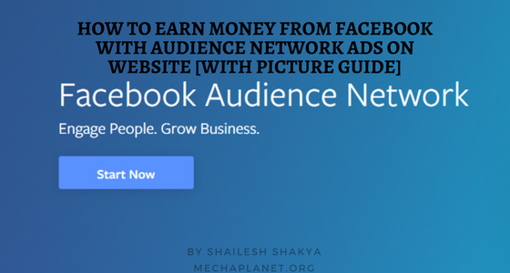Earn money with Facebook audience network