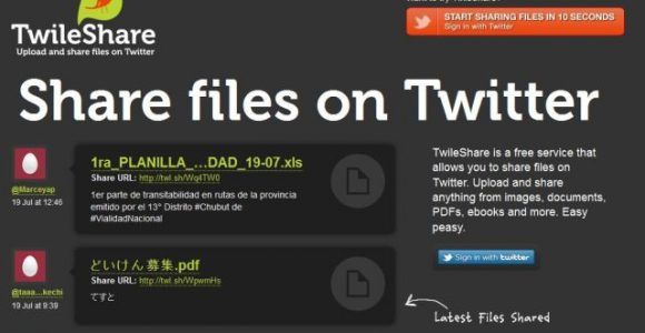 TwileShare: Upload & Share Files on Twitter