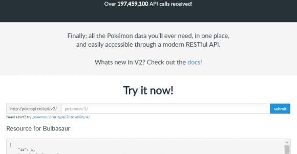 Pok̩Api РThe Free Pokemon RESTful API for Developers