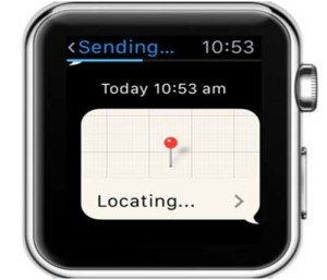 How to send your location on an Apple Watch