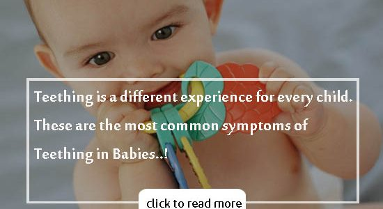 Common Symptoms of Teething in Babies