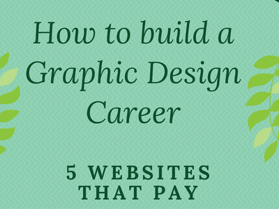 5 Websites where you can make money as a Graphic Designer