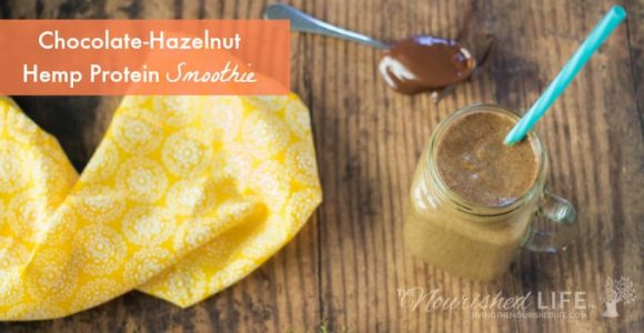 Chocolate-Hazelnut Hemp Protein Smoothie | The Nourished Life