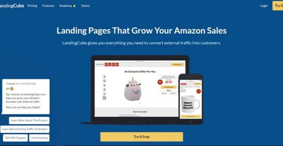 LANDINGCUBE REVIEW: AN AMAZON LANDING PAGE BUILDER FOR INCREASING SALES WITH COUPON CODES