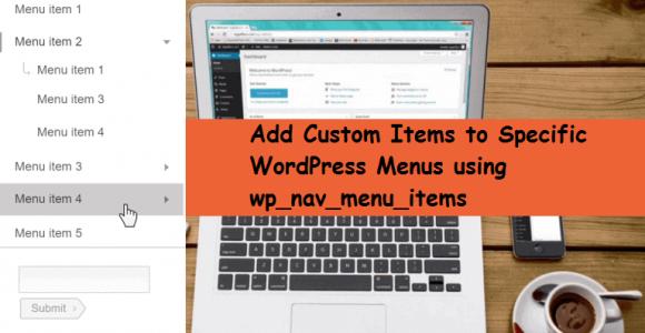 Add WordPress Menus Using wp_nav_menu_items