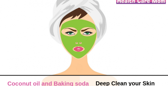 How to use coconut oil and baking soda to deep clean your skin?