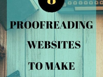 8 websites for making money as a Proofreader