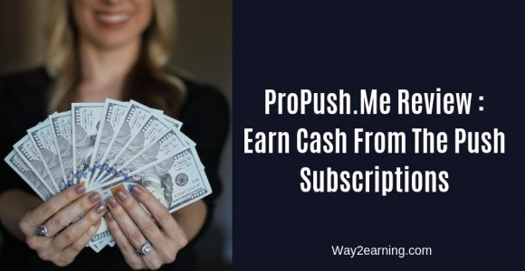 ProPush.Me Review : Earn Cash From The Push Subscriptions