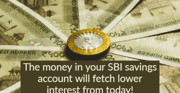 SBI savings account interest rates get lower from 1st November 2019