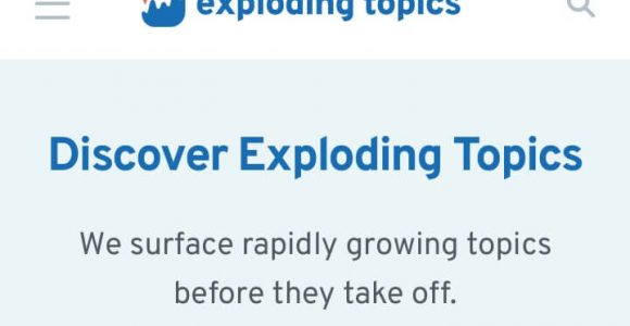 Exploding Topics Review: Discover New Trending Keywords First » Mitrobe