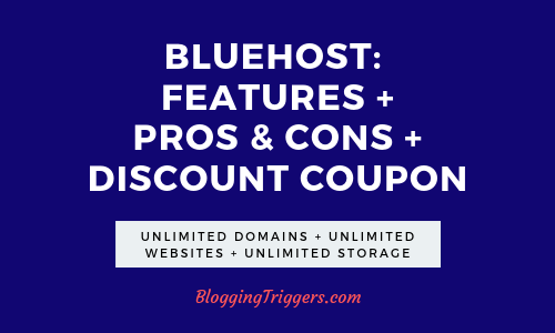 Bluehost Coupon Code 2020: 61% Discount+ Free Domain+ Free SSL