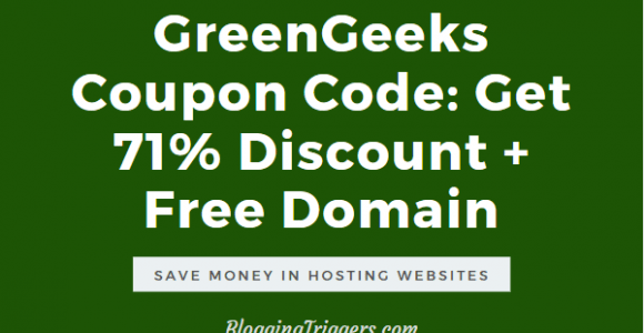 GreenGeeks Coupon Code 2020: Get 71% Discount + Free Domain