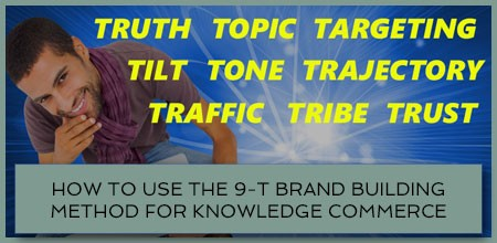 How To Use The 9-T Brand Building Method For Knowledge Commerce