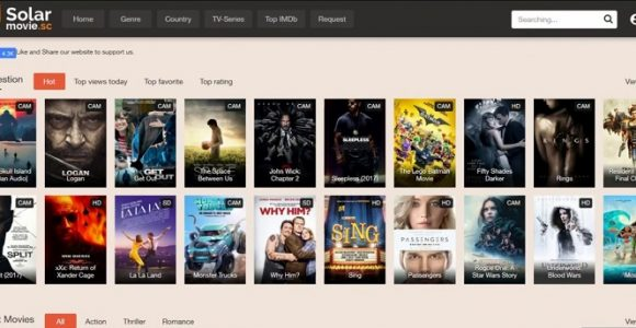 Top 7 Alternative Sites like Solarmovie