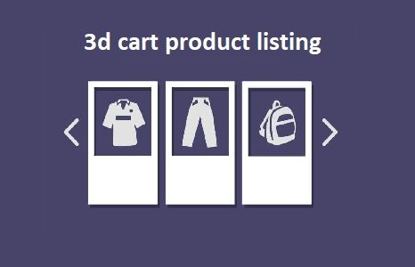 3dCart Product Listing Services