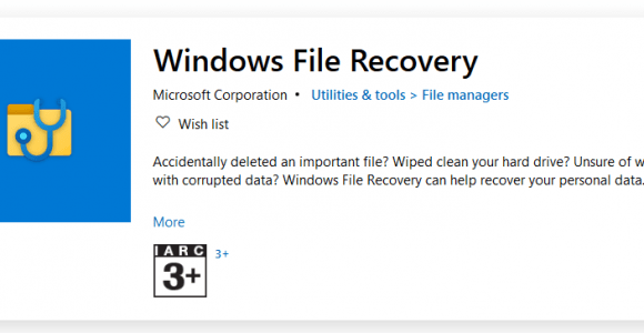 Microsoft has released a command-line based Windows File Recovery App