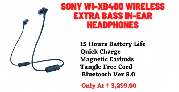 Buy Sony WI-XB400 Wireless Headphones Extrabass- Amazon