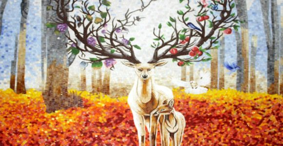 The glorious charm of Fall mosaic Artworks