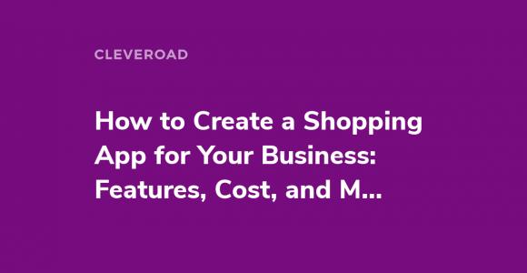 Build a shopping app
