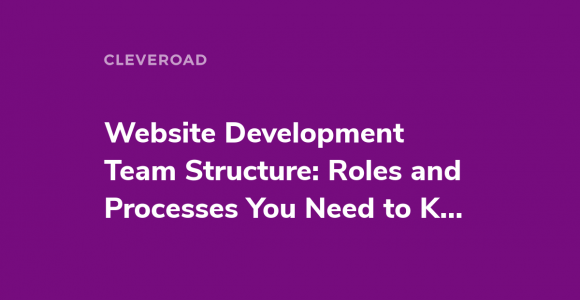 Website Development Team Structure: Roles and Processes You Need to Know About