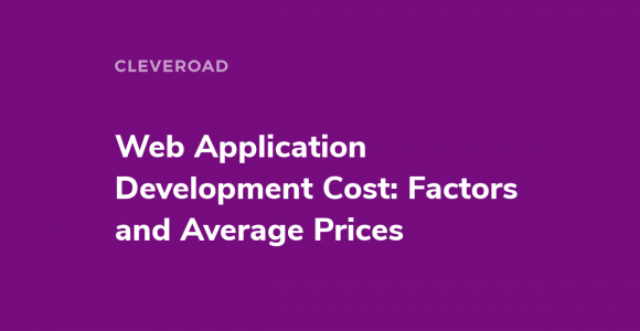 Web app development price