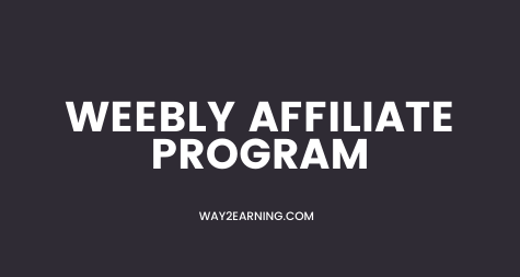 Weebly Affiliate Program (2021): Recommend And Earn