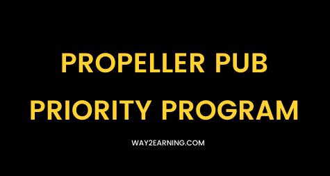 Propeller Pub Priority Program: (Benefit Plan For Publisher)