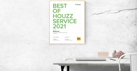 Mosaics Lab awarded Best of Houzz 2021 Award