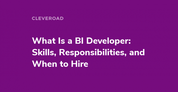 What Is a BI Developer: Skills, Responsibilities, and When to Hire