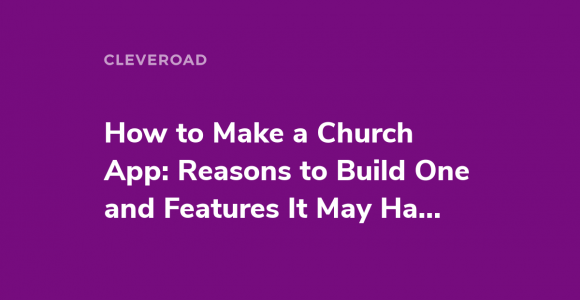 How to build a church appe