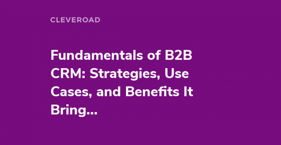 5 Effective B2B CRM Strategies That Work