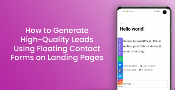 How to Generate High-Quality Leads Using Floating Contact Forms on Landing Pages