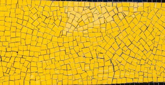 Cheery yellow mosaic designs to illuminate any space