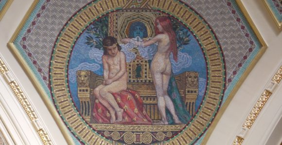 10 alluring nude mosaic murals for the home spa