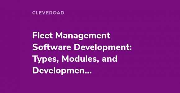 Fleet Management Software Development in 2021 [The Fullest Guide]
