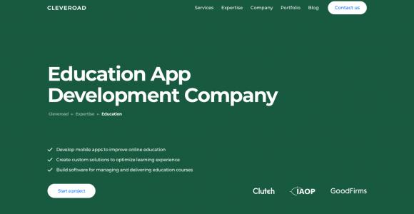 Education app development company   Cleveroad