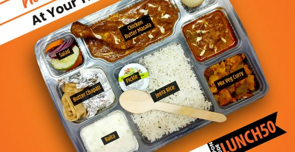 Order Delicious Non-veg Deluxe Thali on Train